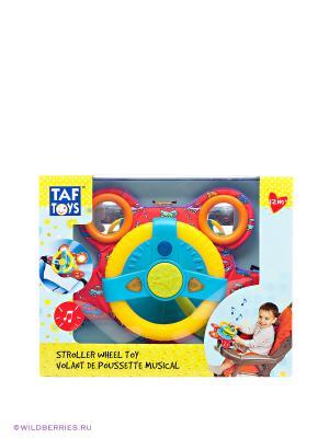 Руль для игры в детской коляске TAF TOYS. Цвет: красный, желтый