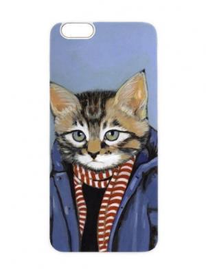 Чехол для iPhone 6 Кот-подросток Chocopony. Цвет: антрацитовый, темно-серый