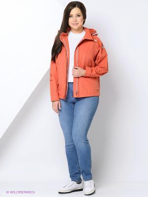 Куртка COLD WIND IS MIRAGE. Цвет: оранжевый