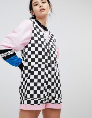 Lazy Oaf Ромпер в шахматную клетку. Цвет: черный