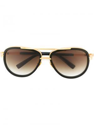 Солнцезащитные очки Match Two Dita Eyewear. Цвет: чёрный