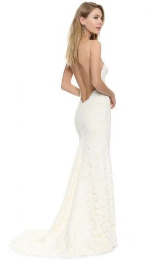 Вечернее платье Poipu с глубоким вырезом на спине Katie May. Цвет: шампанское