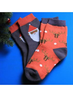 Носки, 2 пары Big Bang Socks. Цвет: красный, фиолетовый