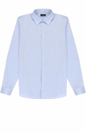 Хлопковая рубашка прямого кроя Dal Lago. Цвет: синий