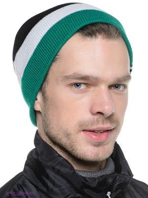 Шапка STORY STRIPE BEANIE Volcom. Цвет: зеленый, белый, черный
