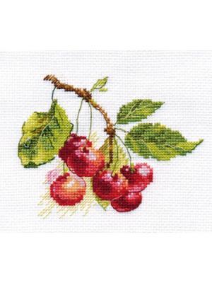 Вишня 11х8 см Алиса. Цвет: бордовый, красный, зеленый, темно-красный