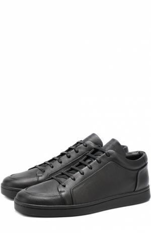 Кожаные кеды на шнуровке Balenciaga. Цвет: черный