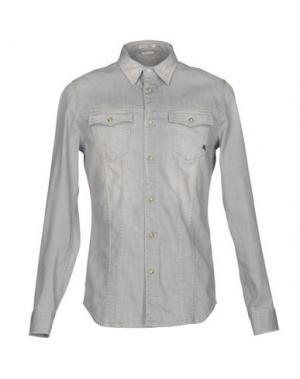 Джинсовая рубашка CYCLE. Цвет: серый