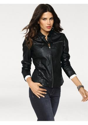 Кожаная куртка Rick Cardona. Цвет: черный