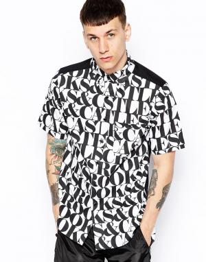 Crooks & Castles Рубашка с принтом Headliner. Цвет: белый