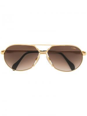 Солнцезащитные очки-авиаторы Cazal. Цвет: металлический