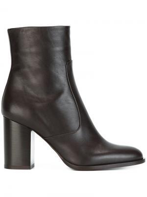 Ботинки на массивном каблуке Veronique Branquinho. Цвет: коричневый