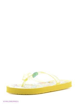 Пляжная обувь детская Mon Ami. Цвет: желтый