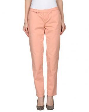 Повседневные брюки D-21. Цвет: лососево-розовый