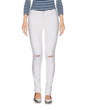 Джинсовые брюки FIFTY FOUR. Цвет: белый