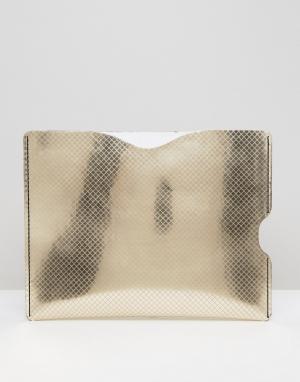 Leather Satchel Company Чехол для iPad Mini. Цвет: серебряный