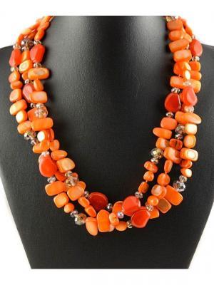 Бусы Miss Bijou. Цвет: рыжий, оранжевый