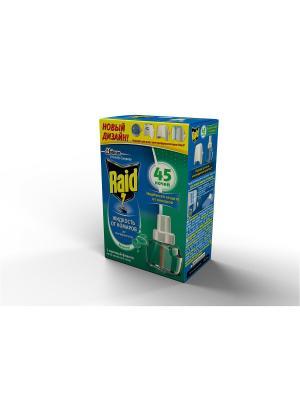 Жидкость для фумигатора Эвкалипт 45 ночей RAID. Цвет: синий