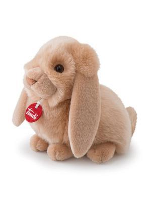 Мягкая игрушка Trudi Кролик-пушистик, 24 см.. Цвет: бежевый