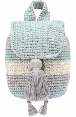 Вязаный рюкзак Cote dAzur 7II. Цвет: серый
