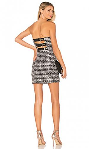 Облегающее платье-бандо buckle X by NBD. Цвет: черный