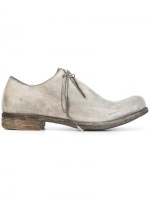 Классические туфли дерби A Diciannoveventitre. Цвет: серый