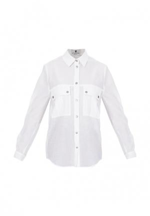 Рубашка Bergamoda. Цвет: белый