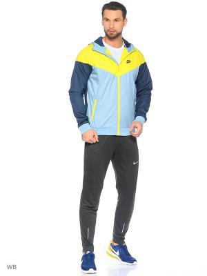 Ветровка M NSW WINDRUNNER Nike. Цвет: серо-голубой, желтый