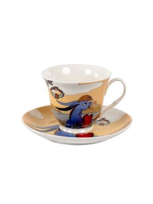 Чайный набор 220мл, 2 предмета в п/у. Elff Ceramics. Цвет: белый, синий