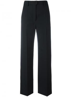 Прямые костюмные брюки Lemaire. Цвет: синий