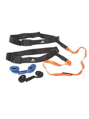 Реакционные ремни для тренировок (пара) Adidas. Цвет: черный, синий, оранжевый