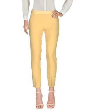 Повседневные брюки EDAS. Цвет: желтый