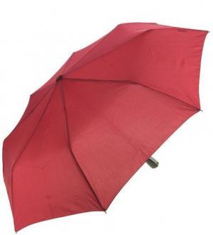 Однотонный бордовый складной зонт Doppler. Цвет: бордовый