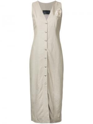 Платье в стиле жилета N Duo. Цвет: коричневый