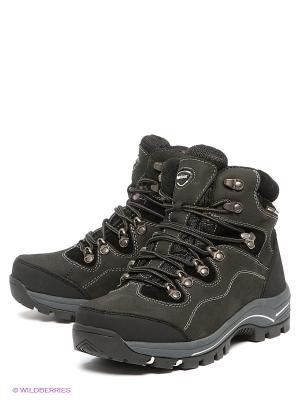 Ботинки Shoiberg. Цвет: черный, темно-серый