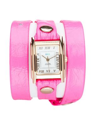 Часы La Mer Collections Simple Neon Pink. Цвет: розовый