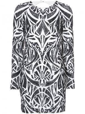 Декорированное платье Rubin Singer. Цвет: белый