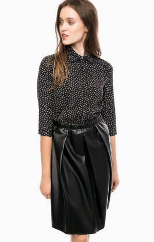 Черное платье с отложным воротничком Kocca. Цвет: черный