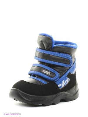 Ботинки Skandia. Цвет: черный, синий