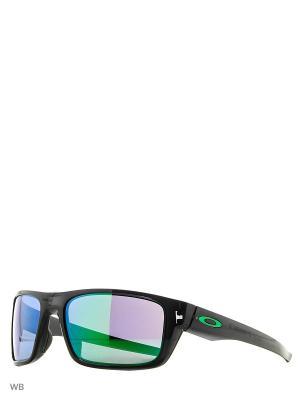 Очки солнцезащитные OAKLEY. Цвет: черный, зеленый