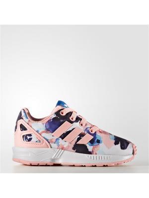 Кроссовки дет. спорт. ZX FLUX EL I Adidas. Цвет: розовый