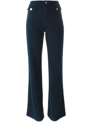 Вельветовые расклешенные брюки See By Chloé. Цвет: синий