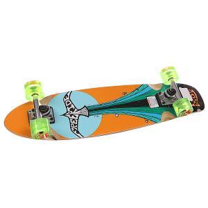 Скейт мини круизер  Hightail Complete Multi 7.5 x 29 (73.6 см) Freeride. Цвет: оранжевый,голубой,зеленый