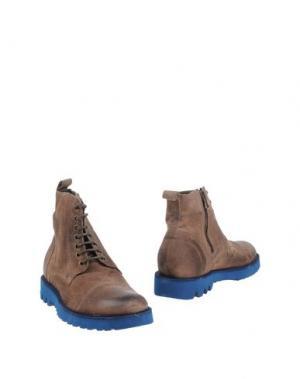 Полусапоги и высокие ботинки GABARDINE. Цвет: темно-коричневый