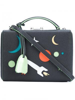 Мини сумка-тоут  Galaxy Mark Cross. Цвет: серый