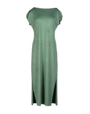 Платье длиной 3/4 MARIAGRAZIA PANIZZI. Цвет: зеленый