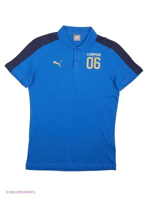 Футболка-поло FIGC TRIBUTE 2006 Polo Puma. Цвет: синий