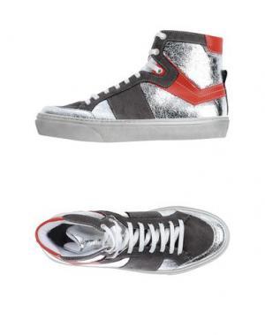 Высокие кеды и кроссовки CHANGE. Цвет: стальной серый
