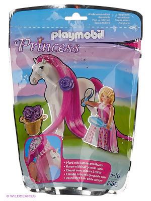 Принцесса Розали с Лошадкой Playmobil. Цвет: малиновый, белый
