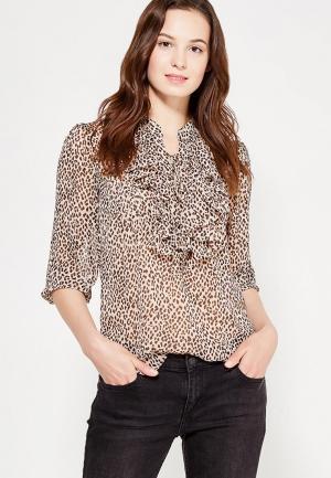 Блуза oodji. Цвет: коричневый